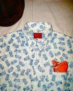 🇯🇵日本製Sugar cane Indigo flower shirt