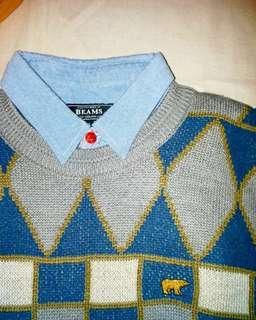 🇯🇵日本製Vintage Golden Bear Wool sweater