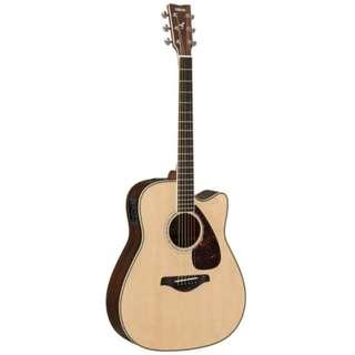 Yamaha FGX830C Solid Spruce Top Rosewood Body Electro Acoustic Guitar