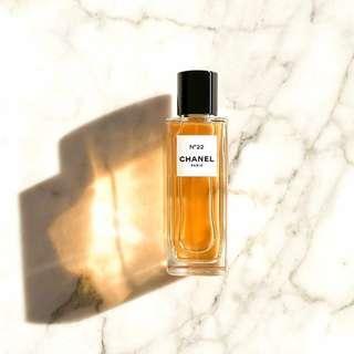 travel size parfum chanel les exclusifs no 22 original non box