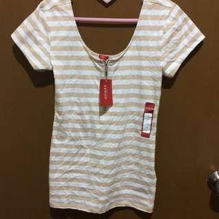 Guess Stripes Tee with zip detail
