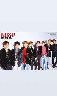 WTB exo love shot photocards