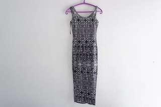 tribal dress backless by newlook