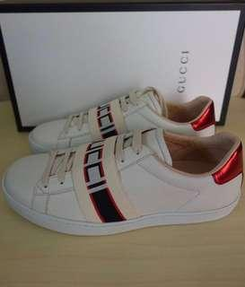 Gucci shoes woman logo print white sneaker