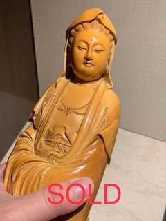 SOLD - Antique ivory Guanyin