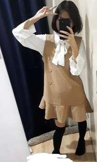#MY1212 Woolen Sleeveless Dress (READY STOCK)