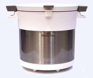 全新有盒Thermos 膳魔師不鏽鋼真空燜燒鍋4.5L (型號: KBC-4500-PWH) - 白色