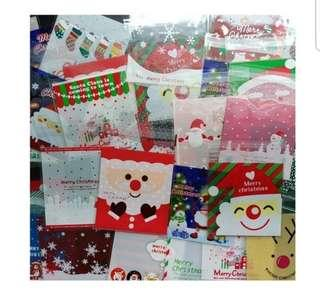 15 Pc Grab Bag Self Adhesive Cookie Wrapper - Christmas