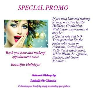 Hair and Makeup Artist (SPECIAL PROMO-No Transpo Fee)