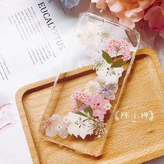 Hand made real pressed flower phone casing
