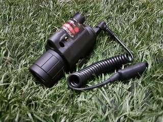 Tactical Red flashlight CREE Q5 LED