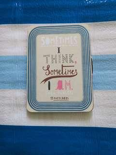 [gift idea] Postcards - sometimes i think sometimes i am collection / creative / design / lifestyle