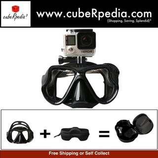 Diving / Snorkeling Mask - For Gopro, SJCAM, Xiaomi Yi Camera