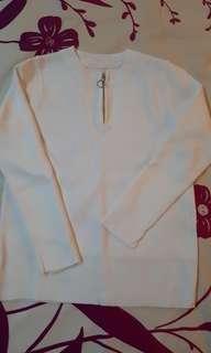 #MY1212 Long Sleeve Cotton Zipped Top (READY STOCK)