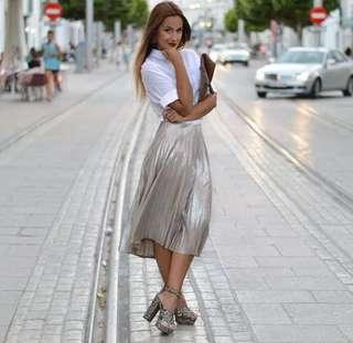 Zara Metallic Skirt
