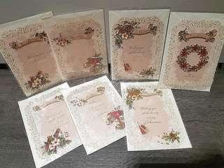CLEARANCE! Instock 7 x Pretty Christmas Cards Papercrafted PaperCut Frames