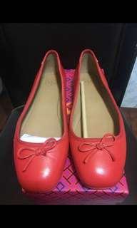 全新tory burch 紅色平底鞋(US7)
