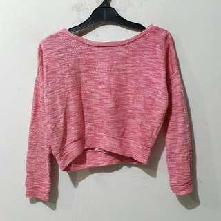 American Rag Pink Crop Sweater