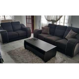 Sofa with a coffee table