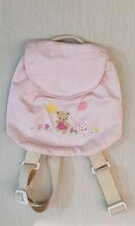 Pink backpack with embroidery