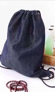Dark denim Drawstring backpack