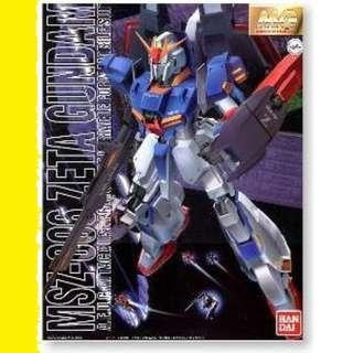 請看推廣優惠 可變戰機 全新未砌 Bandai MG 1比100 Zeta Z Gundam MSZ- 00 6 高達模型 6