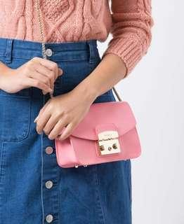 [READY STOCK] Furla Metropolis Crossbody in Peach Pink