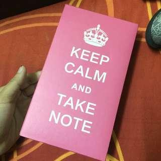 Pink Notes Keep Calm and Take Notes