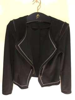 🚚 降📣‼️Veeko 珊瑚絨黑色騎士外套