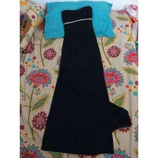 Black tube long gown