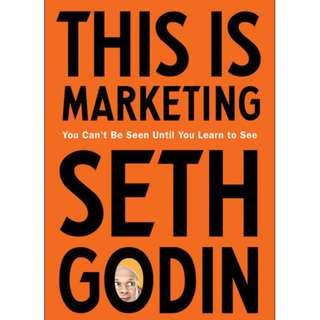 [Ebook] This Is Marketing: You Can't Be Seen Until You Learn to See by Seth Godin