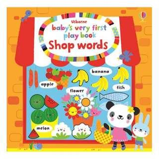 🚚 [BN] Usborne- Baby's very first play book shop words