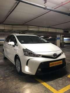 TOYOTA PRIUS PLUS! Promo Now! Petrol Saver Proven! 18% off petrol Card! Lowest Price! Can Drive Go-Jek/Grab/Ryde/Tada/Sixtnc! Flexible Rental Scheme! Personal User! Call Now!