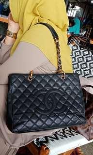 Chanel GST Black Caviar GHW #12 preloved VGC