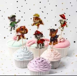 Paw Patrol Cupcake Muffin Topper Decoration
