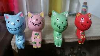 🚚 小貓擺飾4個
