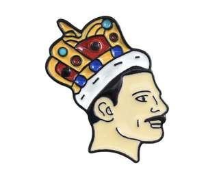 Freddie Mercury Queen brooch