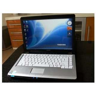 "Toshiba 14"" Laptop + MS Office + NEW BATTERY"