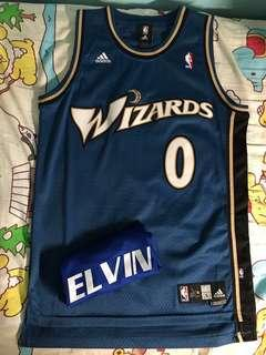 Gilbert Arenas Wizards Away SW 09-10 size S