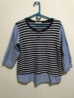 Stripes blue and wht