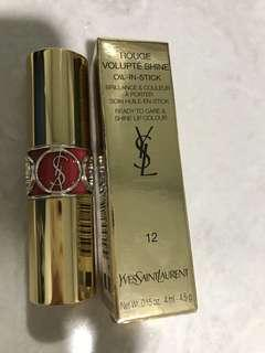 New YSL#12桃紅色唇膏 💄 lipstick 4ml