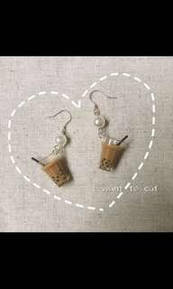 Bubble tea earring