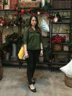 Blouse green army