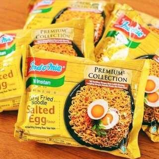 🚚 Indomie Salted Egg Curly Noodles Premium Collection