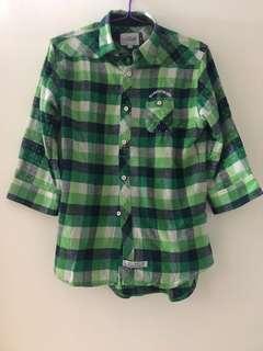 🈹💥🈹💥🇯🇵罕有全場獨家 Magicnumber brand 獨特綠色格子 小波點圖案 裇衫 clothes