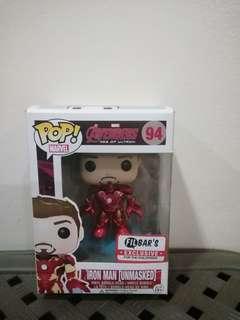 Funko Pop Iron Man (Unmasked: