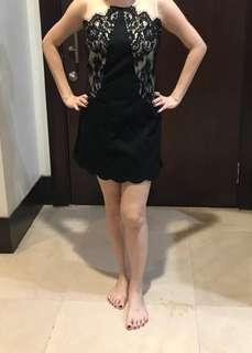 Jumpsuit kondisi 90% black lace size L