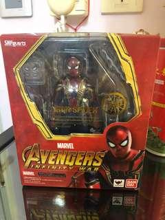 (二手)Bandai SHF Marvel Avengers Infinity War Spiderman Iron Spider 蜘蛛俠