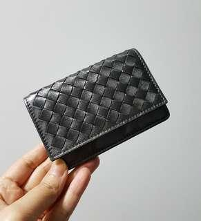 Bottega Veneta Card Holder in Metallic Grey