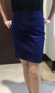 Rok katun biru size L kecil